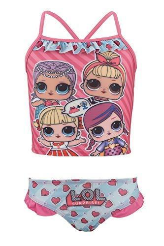L.O.L. ¡Sorpresa! - Bikini de 2 Piezas con Volante de Playa y Piscina - Full Print - Niña - Producto...