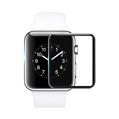 TopACE Apple Watch 42mm Panzerglas, iWatch 42mm Vollabdeckung Schutzfolie 9H Härte Displayschutz Panzerglas für Apple Watch 42mm Series 1/Series 2/Series 3 (Schwarz)