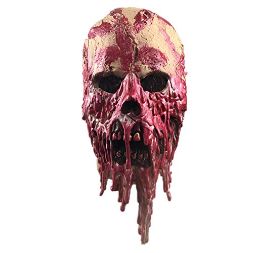 IHLGH Halloween Faule Zombie Maske Spukhaus Geheime Blut Tropfer Terrorist Kopfbedeckung Maske Film Requisiten