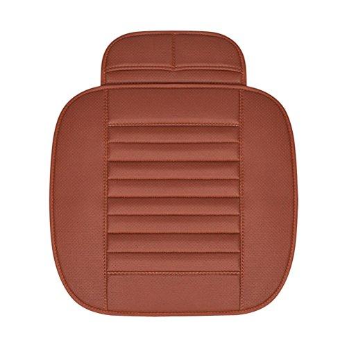 WINOMO Auto-Sitzbezüge Vier Jahreszeiten PU-Leder Bambus-Holzkohle-Auto-Innenraum Sitzkissen-Abdeckungs-Matte (Brown)