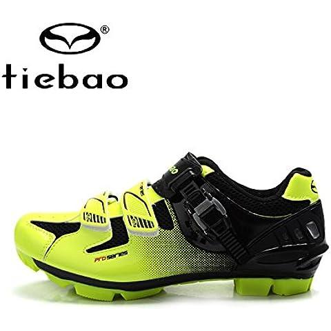 MaMaison007 Zapatos de bicicleta de la bici de montaña MTB ciclismo zapatos deportivos zapatos zapatillas-Green2 10