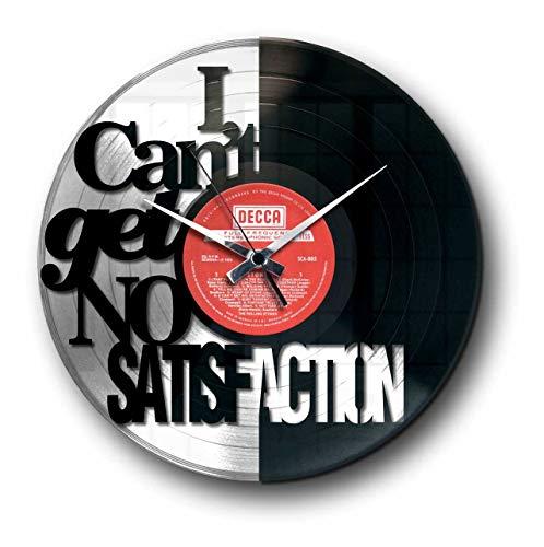 Disc'O'Clock Wanduhr aus Vinyl LP 33 Leise Satisfaction Gold - Geschenkidee A Tema Rolling Stones Musik Rock Rock