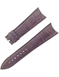 Franck Muller 27 K 22–18 mm Cuir véritable Alligator Marron mat Bracelet de montre