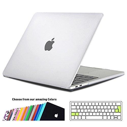 MacBook Pro 13 Hülle Case 2018/2017/2016,iNeseon Plastik Hartschale Schale Cover Tasche mit EU Transparent Tastaturschutz Schutzhülle für Apple MacBook Pro 13 Zoll mit/ohne Touch Bar Modell: A1989&A1706&A1708 ( Frost Klar)