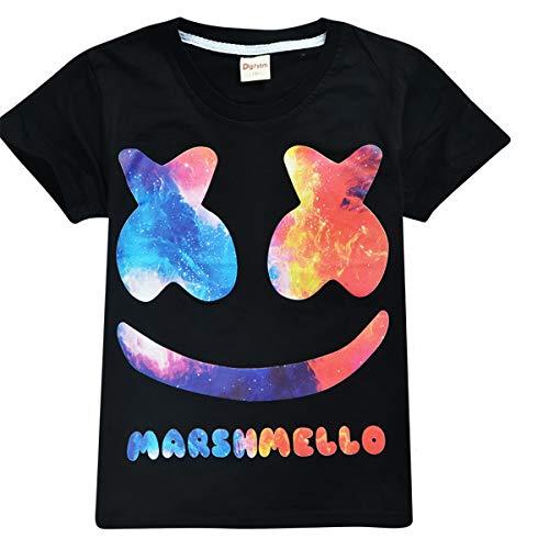 74d1a5384 SIMYJOY Kids' Marshmello Smiley T-Shirt Children Cute Cartoon 100% Cotton  Breathbale Tshirt