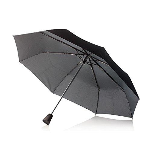 XD Design XDP850111 Brolly Parapluie à Ouverture et Fermeture Automatiques Noir 21,5 Pouces