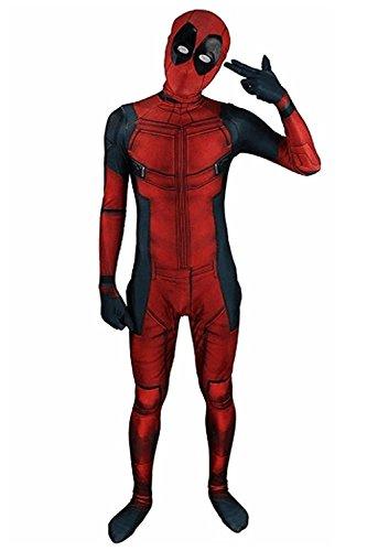 (CROWN BEAUTY Unisex Lycra Spandex Erwachsene Zentai 3D Halloween Cosplay Kostüme Voller Bodysuit (XL-(175CM-185CM)))