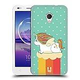 Head Case Designs Sommer Phantastische Einhörner 2 Chubby Soft Gel Hülle für Alcatel U5 HD
