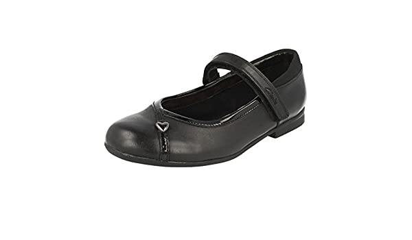 b8f5302f60da Clarks Girls School Shoes Movello Lo - Black Leather - UK Size 13F - EU  Size 32 - US Size 13.5M  Amazon.co.uk  Shoes   Bags