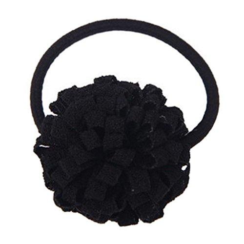 2PCS Élégant Elastics Elastiques fleur Ponytail titulaires filles, Noir