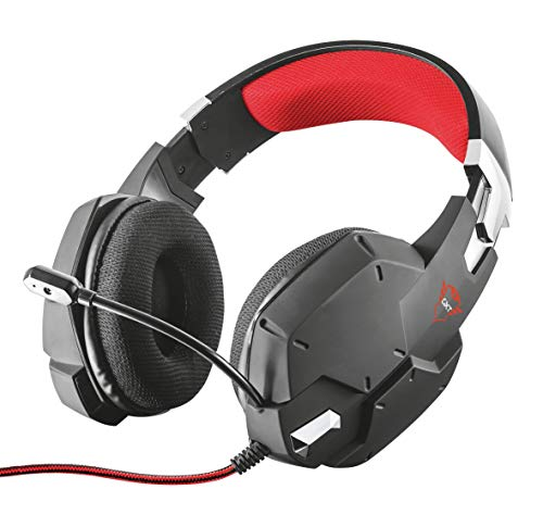 Trust cuffie gaming gxt 322 carus, con microfono flessibile, controllo del volume ed esclusione audio del microfono, pc, ps4, xbox one, switch, nero