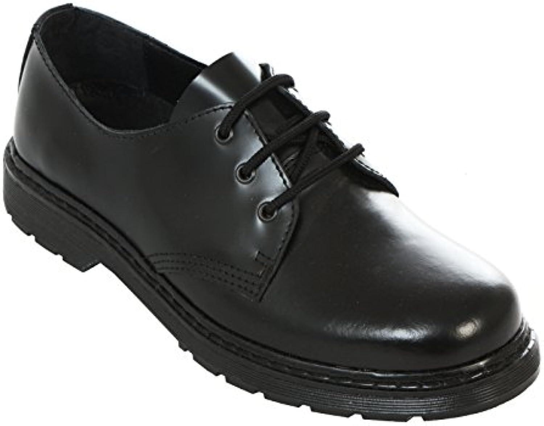 Boots  Braces   easy 3 Loch monochrom Black on Black Schwarz Schuhe Made in EU Boots Neu