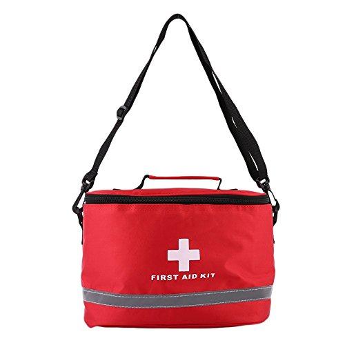 RETYLY Au?en Erste Hilfe Kit Sport Camping Tasche Hause Medizinische Notfall überleben Paket Rot Nylon Auffallende Kreuz Symbol Umh?nge Tasche (Notfall-kit-rotes Kreuz)