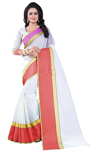 Vrati Fashion Cotton Silk Saree With Blouse Piece (_Pink_Free Size)