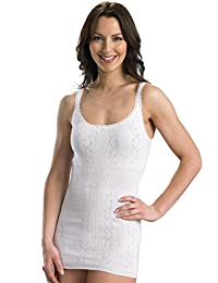 Slenderella Chilprufe Cotton White French Neck Vest CUW514
