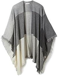 Stefanel VE010DT0000 - Poncho para mujer, color Multicolor (Grigio2360), talla única