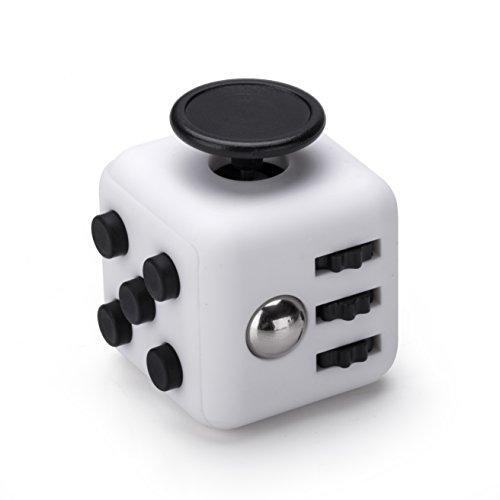 Fidget Cube Anti Stress Würfel in Weiss Schwarz von VAPIAO thumbnail