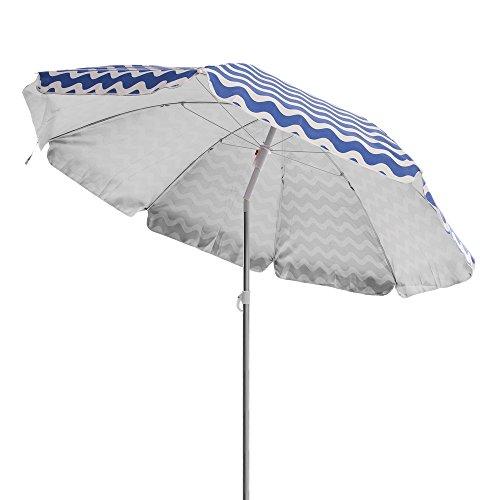 Sombrilla Plegable de Playa o Camping Azul de poliéster de 200 cm Garden - LOLAhome