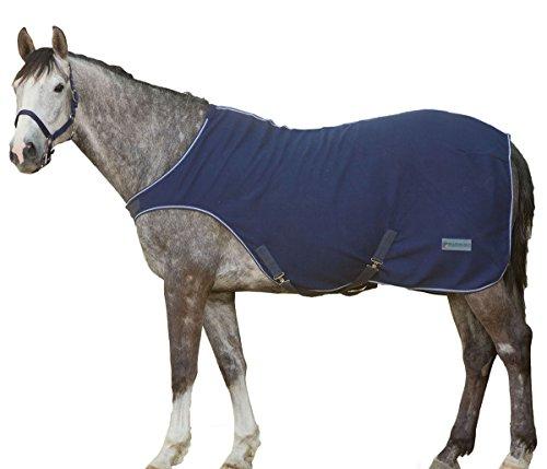 Fleece Führmaschinendecke Führanlagendecke Walkerdecke Nierendecke für Pferde dunkelblau, Größe: 125 cm