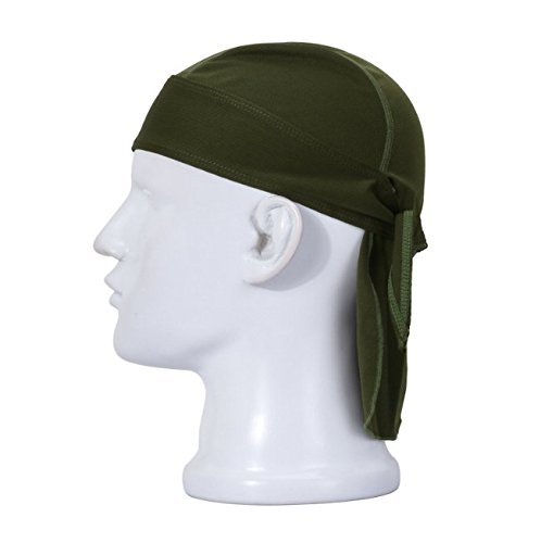 Swallowuk Sport Cap Breathable Outdoor Wandern Kopftuch Piratenhut Stirnband (Armee-Grün)