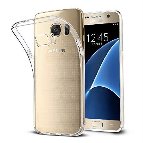 Bodyguard Hülle für Samsung Galaxy S7, Crystal Clear Dünn Silikon Schutzhülle, Kratzfest Durchsichtige Hülle Case Cover, Hohe Zähigkeit Soft TPU, Weich Transparent Handyhülle für Samsung Galaxy S7 Silikon Cover