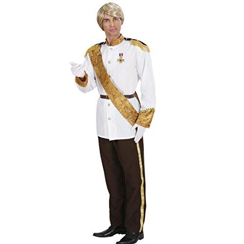 Märchen König Kostüm - Amakando Prinzenkostüm Märchenprinz Faschingskostüm L 52 Prinzen Märchenkostüm Prinz Kostüm Karnevalskostüme Herren König Prinzkostüm Märchen Königskostüm