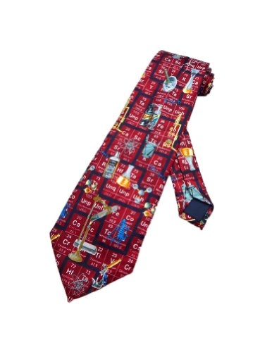 Steven Harris para hombre tabla periódica química corbata–rojo–talla única cuello corbata