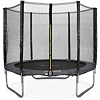 Alice's Garden - Cama elastica, Trampolin de 245 cm, aguanta hasta 150 kg (estructura reforzada). Incluye: red de protección PLUTON