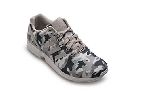 Adidas Zx Flux pattini correnti del mens formatori Sneakers (UK 10.5 Us 11 Eu 45 1/3, Ftwwht / peagr FTWWHT/PEAGRE/CBLACK B24390