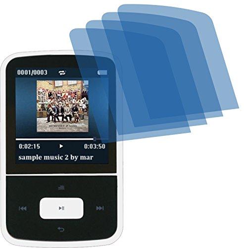 4ProTec 4X ANTIREFLEX matt Schutzfolie für AGPtek Bluetooth MP3-Player Premium Displayschutzfolie Bildschirmschutzfolie Schutzhülle Displayschutz Displayfolie Folie