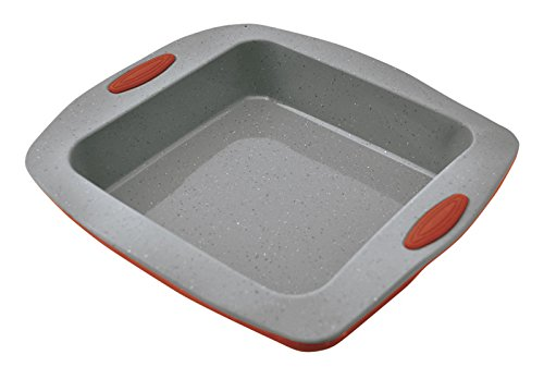 Jata Hogar MC64 Molde para repostería y Cocina, Silicona, Gris y Rojo, 20x19x4.5 cm