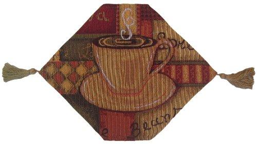 Dada Betten tr-9912Geruch von Kaffee Woven Tischläufer, Blumenmuster, Baumwolle, Creme, Gold, Brown, Red, Green, Blue, Multi, 13 by 17-Inch -