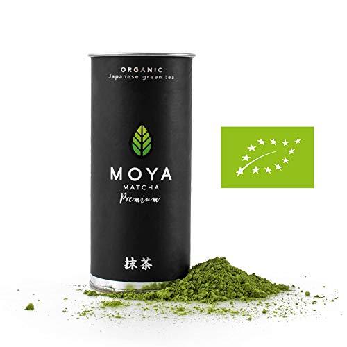 BIO Moya Matcha Tee Pulver Grün | 30g Premium Zeremoniellen (I) Klasse | Organisch Gewachsen und Geerntet in Uji, Japan | Vegetarisch und Vegan Freundlich