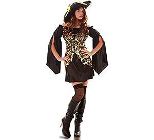 Fyasa 706552-T04 - Disfraz de Pirata Dorada para 12 años de Edad,, Grande