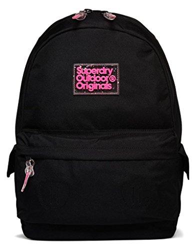 Superdry Pixie Dust Montana, Women's Backpack Handbag, Nero (Black), 30.0x45.0x13.0 cm (W x H L)