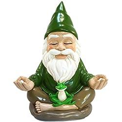Zen-Zwerg – Ruhe und Frieden für Ihren Feengarten und Gartenzwerge von GlitZGlam. 9 Inch hohe Miniaturfigur
