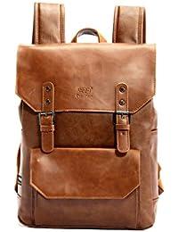 bce142817b7f0 YFbear Kunstleder Rucksack Vintage Schulranzen Schultasche Laptop (14