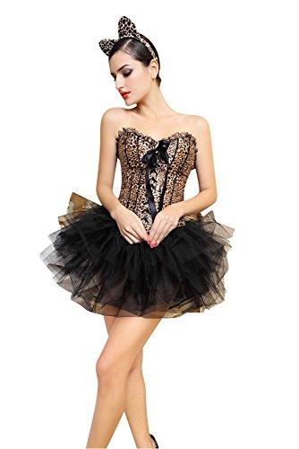 Korsagen-Kostüm SEXY LEOPARD, Größe:M/L