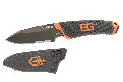 Gerber Bear Grylls Outdoor/Survival-Messer, Compact Fixed Blade Knife, Klingenlänge: 8,6 cm,...