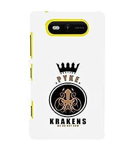 EPICCASE Pyke krakens Mobile Back Case Cover For Nokia Lumia 820 (Designer Case)