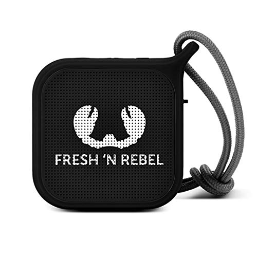 Fresh 'n Rebel Speaker Bluetooth Rockbox Pebble Ink| Altoparlante portatile wireless antiurto e splash / resistente agli schizzi / bassi profondi con 5 ore di autonomia, vivavoce, nero