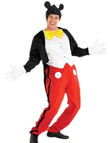 erdbeerloft - Herren Mickey Mouse Komplett Fasching Karneval Kostüm, M, (Mouse Mickey Kostüme Sexy)