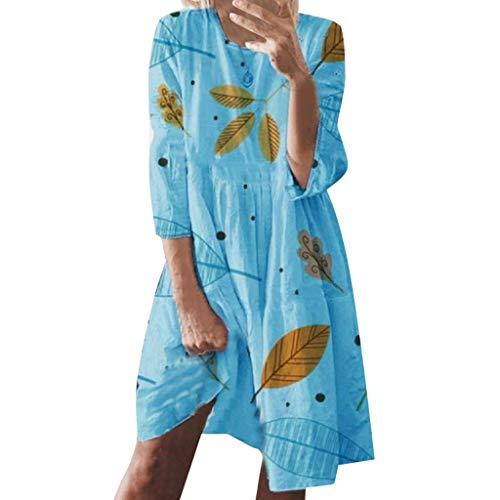 AZZRA Frauen Sommerferien Style Feminino Print Casual Plus Größe Damen Kleid Sommerkleid Abendkleid Punk Gitter a-line Partykleider lace up Cosplay Mittelalter-kostüm schulterfrei cocktailkleid (Kostüm Mittelalter-plus Größe)