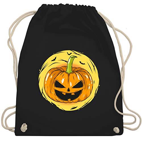 Halloween - Halloween Kürbis Gesicht - Unisize - Schwarz - WM110 - Turnbeutel & Gym Bag