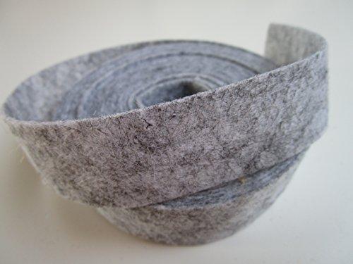 5m Filzband 2,5 cm breit 25mm : Helles Grau -Silber (Filzband)