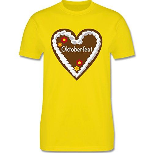 Oktoberfest Herren - Lebkuchenherz Oktoberfest - Herren Premium T-Shirt Lemon Gelb