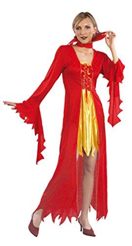 Karneval-Klamotten Teufel-in Kostüm Teufelskostüm Damen sexy Halloween (Baby Satan Kostüm)