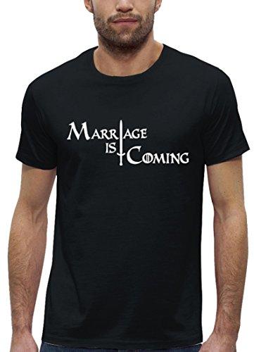 JGA Premium Herren T-Shirt aus Bio Baumwolle JGA 60 - MARRIAGE IS COMING Stanley Stella Black