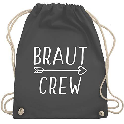 JGA Junggesellinnenabschied - Braut Crew Pfeile - Unisize - Dunkelgrau - WM110 - Turnbeutel & Gym - Herr Tolle Pfeil Kostüm