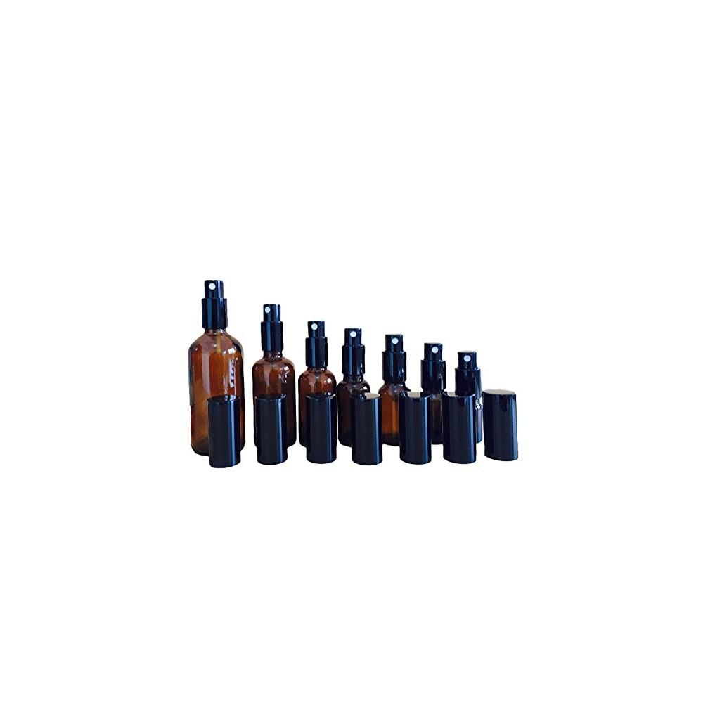 Dawa 7 Stck Verschiedene Kapazitten Mini Bernstein Glas Dropper Flaschen Nachfllbare Therische Lflaschen Flschchen Mit Gemusterten Tropfen Fr Aromatherapie Eye Dropper Kosmetik